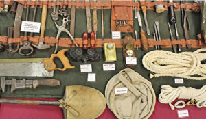 Some of the many military tools on display at the museum.