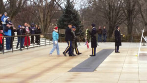 Richard Whalen, 3816 QM GAS SUP CO, lays a wreath at the Tomb of the Unknowns at the December Commemoration.