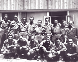 Front row, left to right: Albert Daigle, Herbert Scheinberg, John Warzasz, Edward Geisler, George Trabucco, Samuel Melnicoff. Back row, left to right: Milky (?), Martin Cohen, Angelo Nicolo, Frank Valiga, Daniel Chacchia, James Rullo, Henry Menard, Charles Touchette, Walter German.